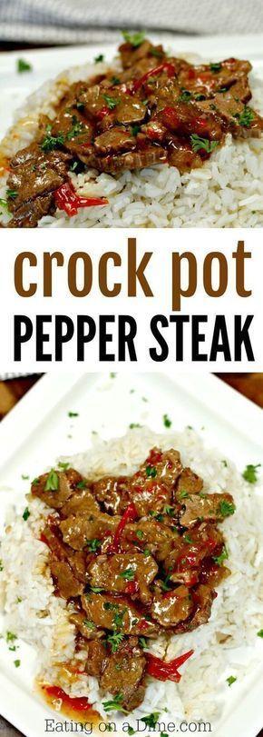 Best Crockpot Pepper Steak