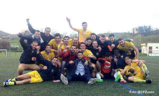 Fútbol | El Zuazo festeja el campeonato y el ascenso a Primera Regional en su 40 aniversario