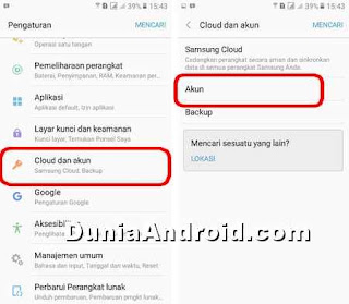 pengaturan notifikasi email masuk di hp samsung