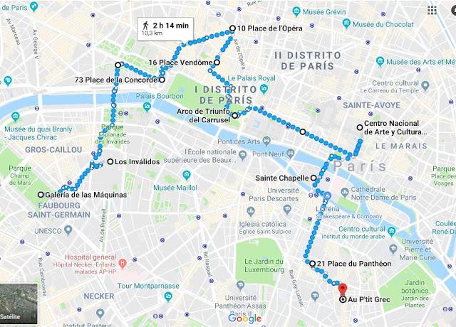 Ruta en París en un día