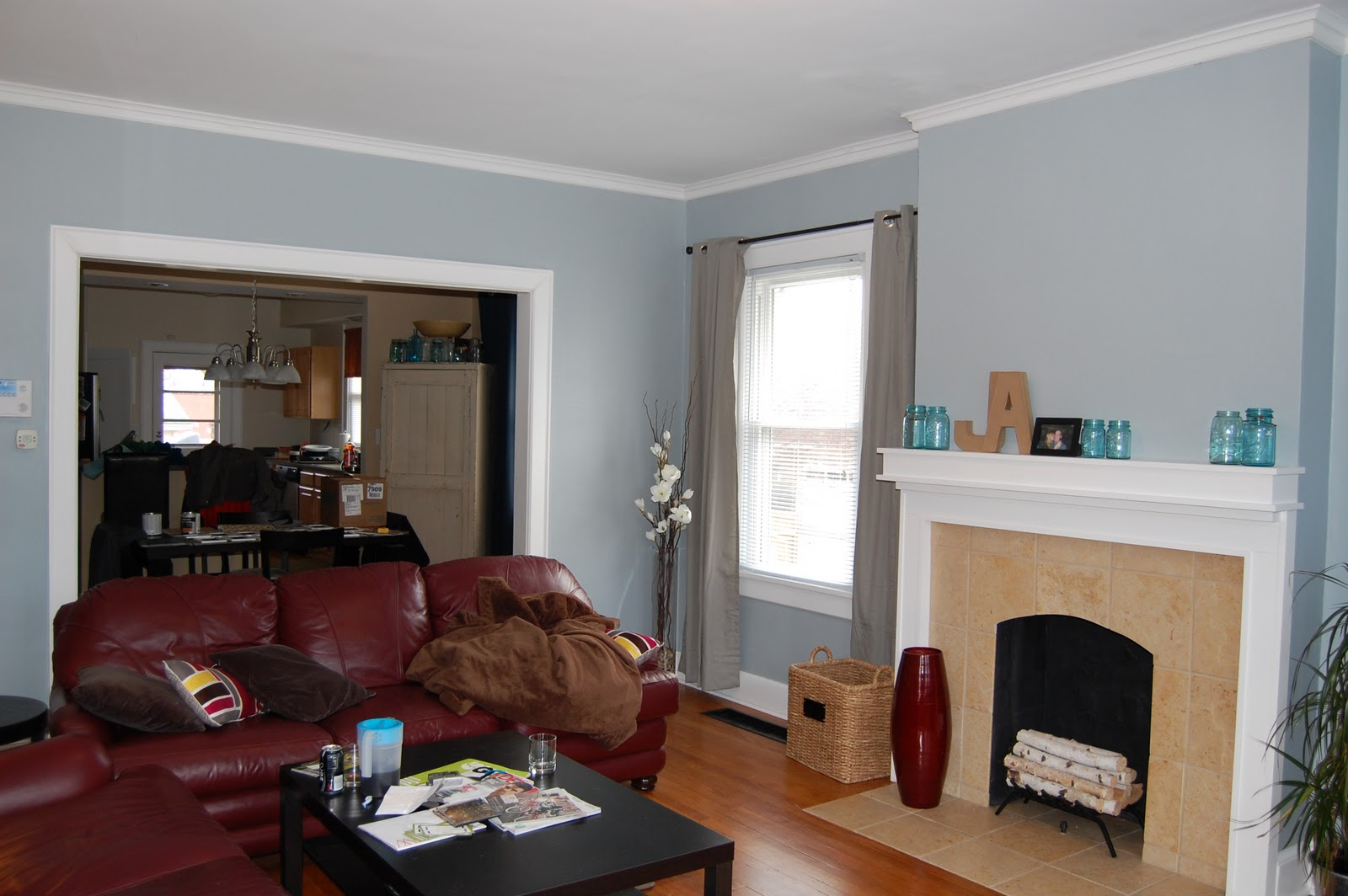 The white bungalow living room paint reveal - Grey paint living room ...