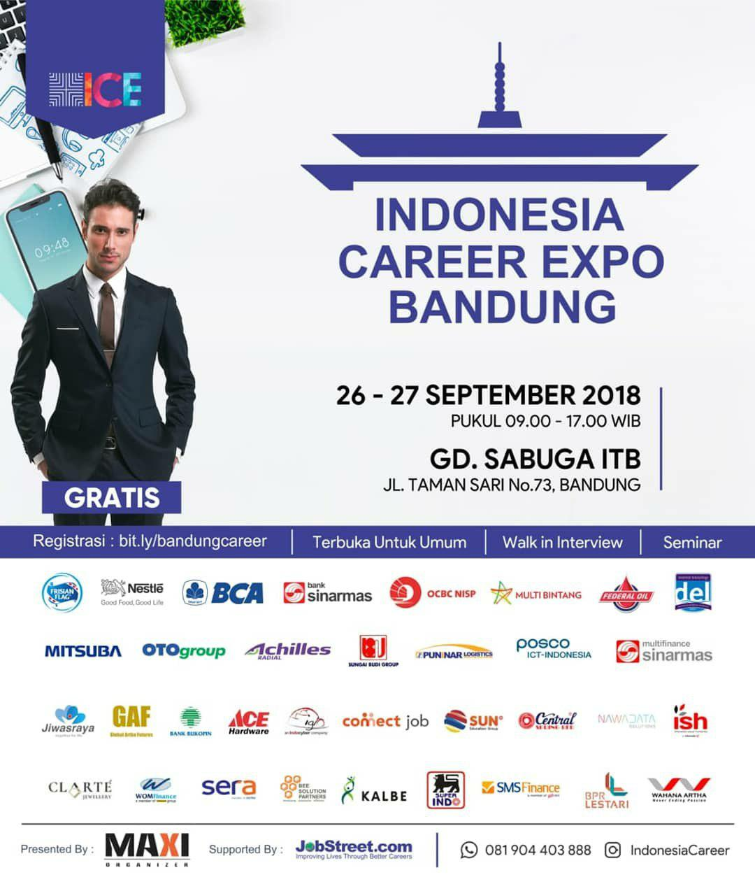 Indonesia Career Expo Bandung 26 - 27 September 2018