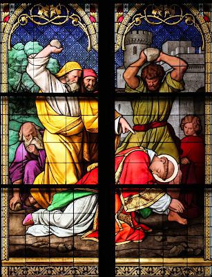 Imagem do martírio de Santo Estevão, vitral, #2