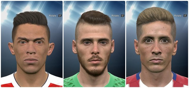 PES 2016 Gabriel, De Gea and Torres Face Pack by ardarsh95