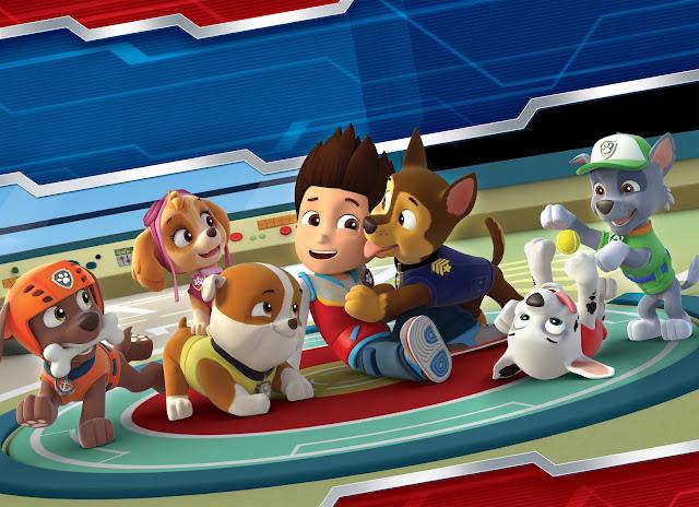 Todos los personajes de los perros de la serie de animación La Patrulla Canina quieren mucho al niño Ryder