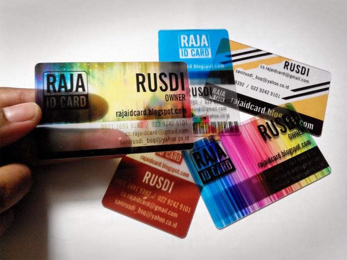 Cetak Kartu Transparan / Cetak ID Card Transparan
