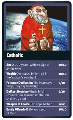 Funny World Religion Top Trumps Cards Roman Catholic Image