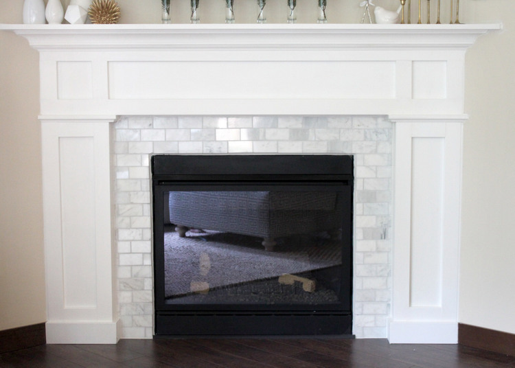 lovesome: fireplace makeover