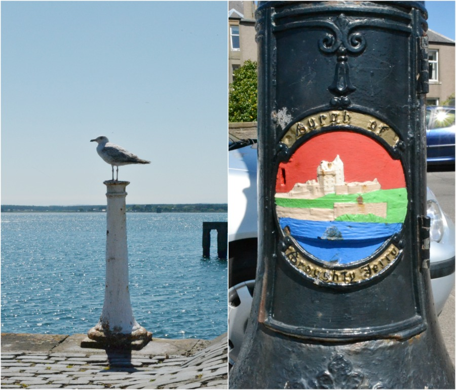broughty ferry lamp post seagull blue sea water harbour scotland angus coastal route seaside