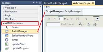 Add ScriptManager in ASP.Net