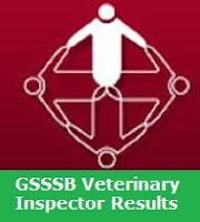 GSSSB Veterinary Inspector Results