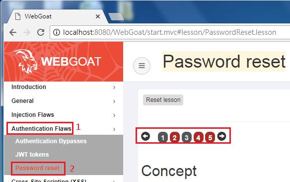 浮雲雅築: [研究] OWASP WebGoat 8 0 - 04 Authentication Flaws