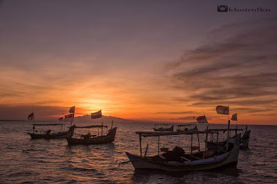 sunset karang jahe beach