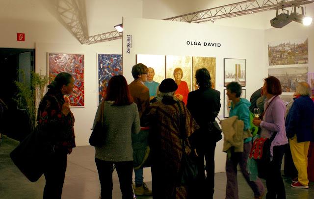 ZeitKunst Baden-Baden Stand Olga David auf der Kunstmesse Innsbruck
