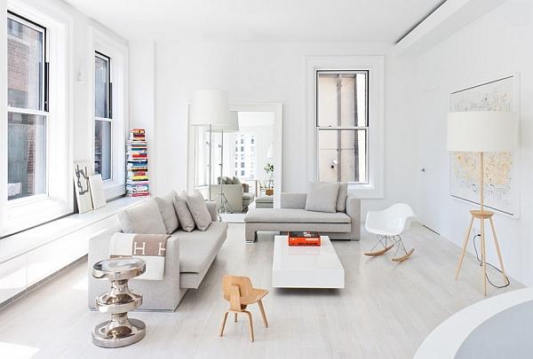 minimalist salon dizaynı