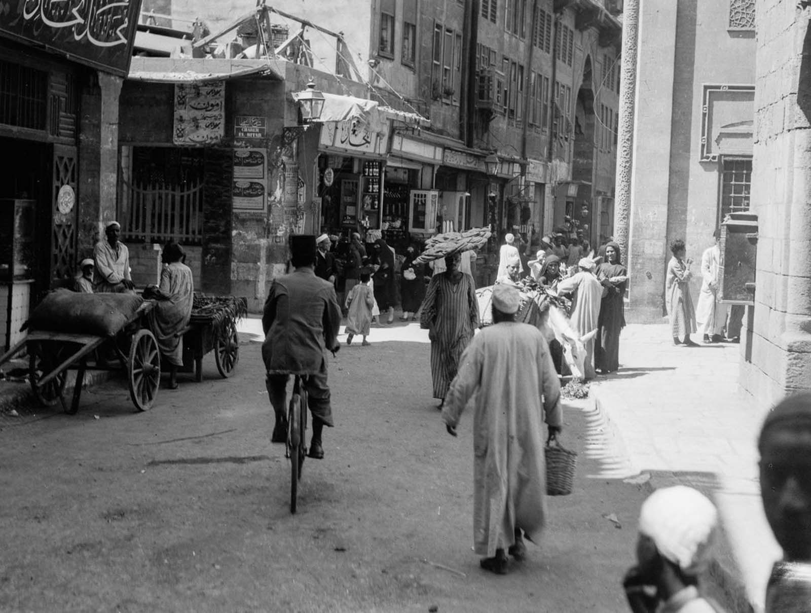 A street scene in Old Cairo. 1934.