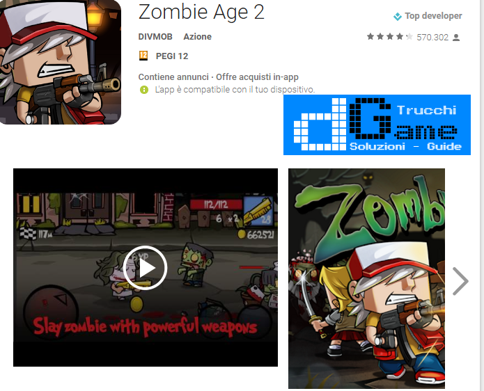 Trucchi Zombie Age 2 Mod Apk Android v1.1.9
