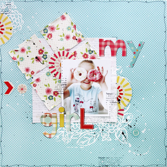 Donuts Love Fun Scrapbook Layout