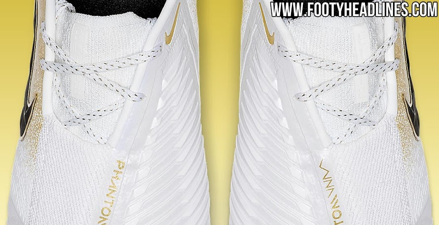 3d87340155d Limited-Edition White   Gold Nike Phantom Venom Boots Leaked