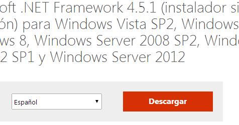 """27 Mar 2012 ... Windows 7 permite instalar el Framework 3.5, así como muchas de ... NET  Framework 4.5, pero además, podemos instalar los componentes necesarios del  . ... feature"""" (Descargar e instalar esta característica), y el Framework se ... la  herramienta embebida DISM para inyectar los componentes offline del ."""