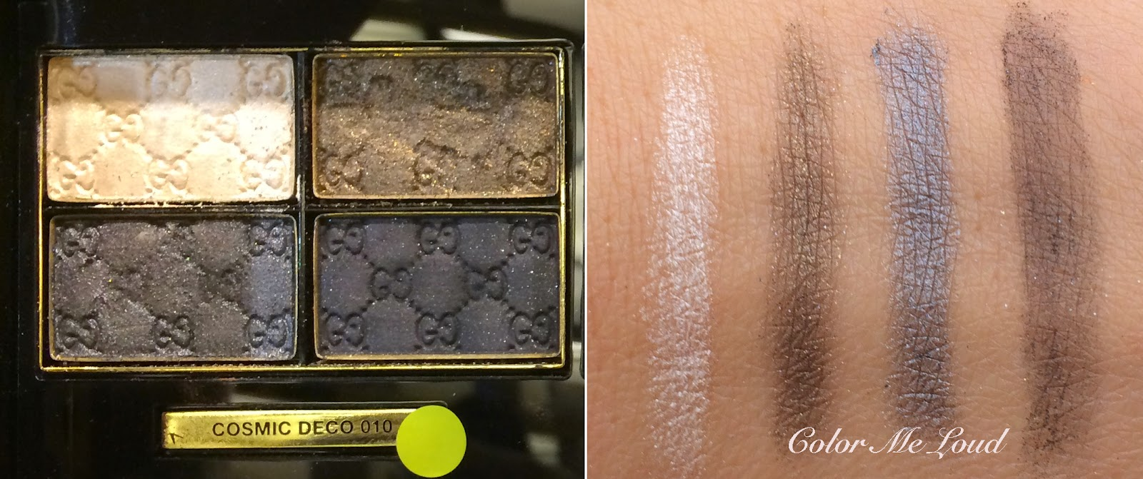 Swatch: Gucci Magnetic Color Eye Shadow Quad in Cosmic Deco