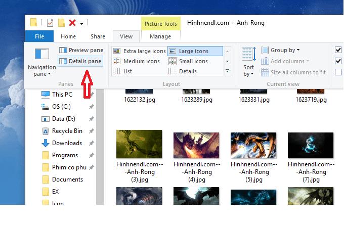 3 cách xem nhanh thông tin của ảnh trong Windows