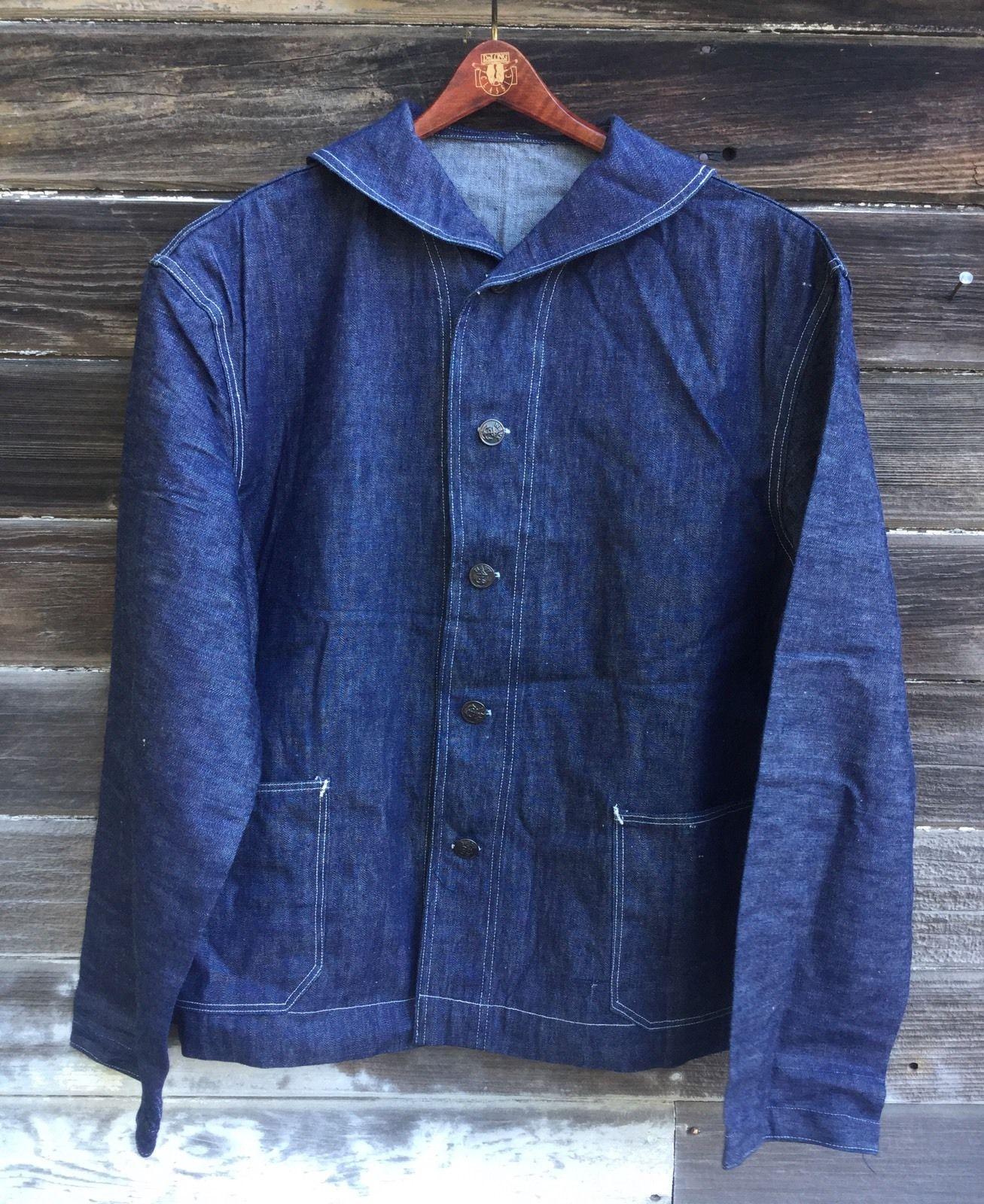 Nostalgia on Wheels: WWII USN Shawl Collar Denim Jacket ...