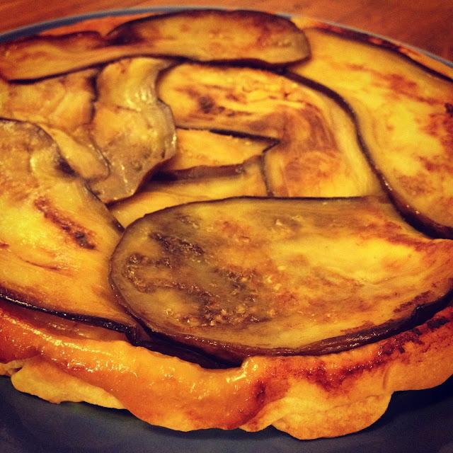 tarte feta aubergine Tatin thon olives romarin