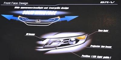 Desain Solid Wing Face di Honda BR-V