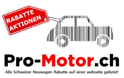 Alle Schweizer Neuwagen Rabatte auf einer webseite gelistet