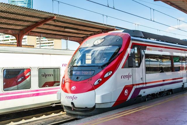 Viagem de trem de Madri a Porto