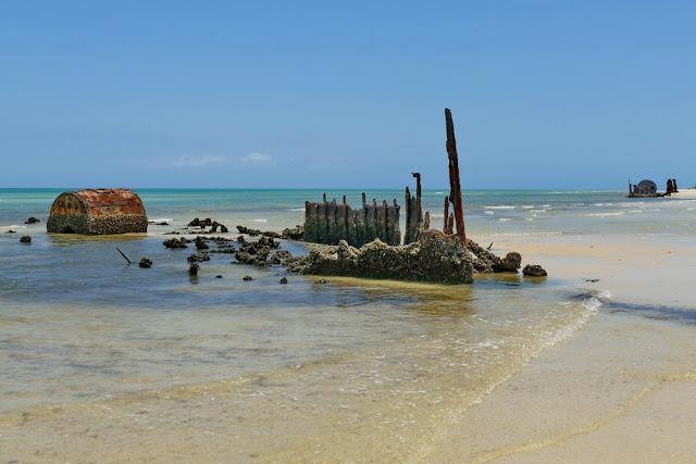 Geschichte Normanby Fairlight Schiff Wrack Wreck Moreton Island Gerippe Kessel Dampfschiff