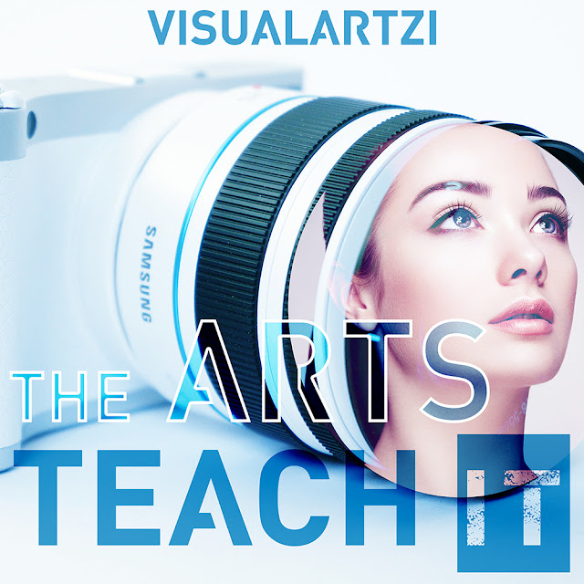 Promote your art work by teaching, girl with beautiful eyes inside of camera
