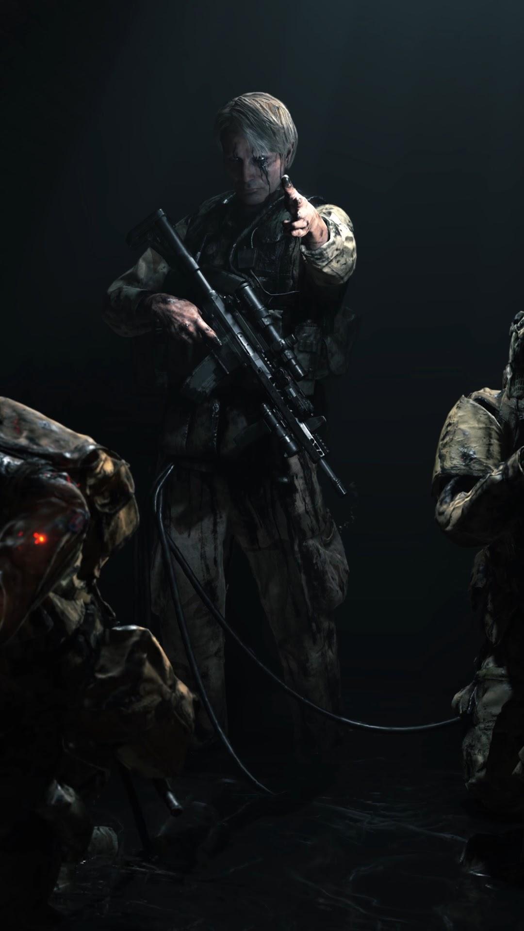 Death Stranding Cliff Skeleton Soldiers Mads Mikkelsen 4k