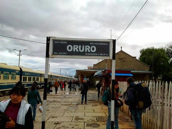 Información viajes en tren desde Oruro a Villazón