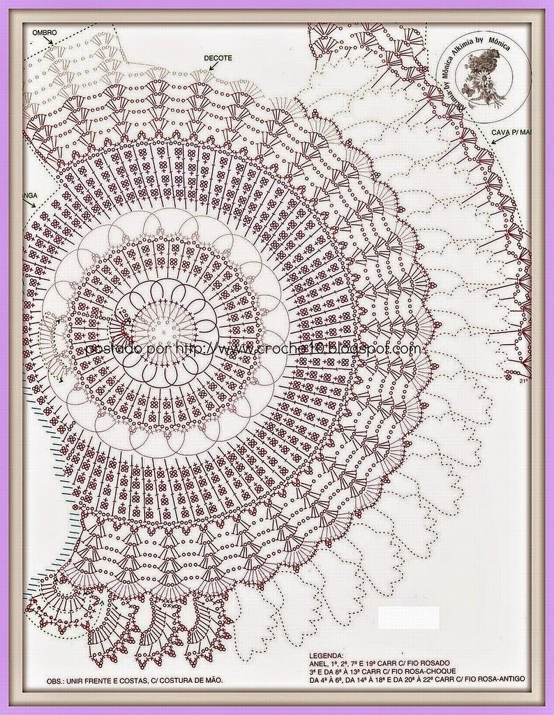 Asombroso Los Patrones De Crochet Redondas Inspiración - Patrón de ...