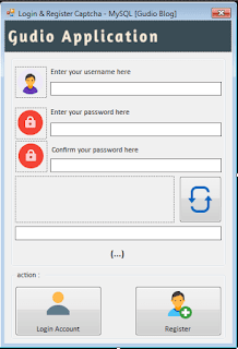 Create Login & Register With Captcha on VB.Net