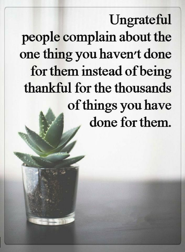 Ungrateful People Quotes Quotes Ungrateful people complain about the one thing you haven't  Ungrateful People Quotes