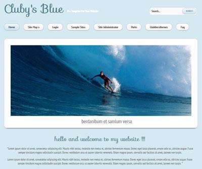 Clubys Blue Joomla 3.0 Template