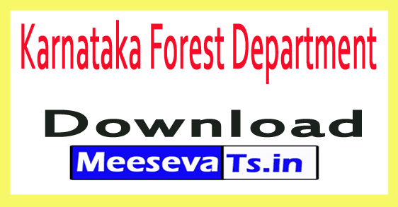 Karnataka Forest Department KFD Recruitment
