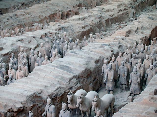 Guerrros y Caballos de Terracota, Xian