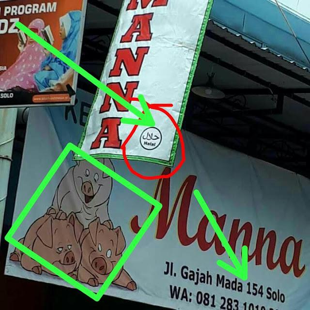 Spanduk Rumah Makan Babi Berlogo Halal Akhirnya Dicopot, Pemilik Minta Maaf
