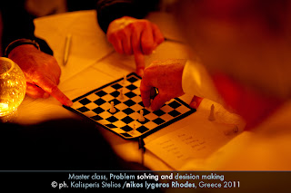 Νικος Λυγερος Master class Ροδος - Ανάλυσης Πληροφορικής - Αλγοριθμικής - Σύγχρονο Θέατρο και Ομαδικότητα - Problem Solving and Decision Making