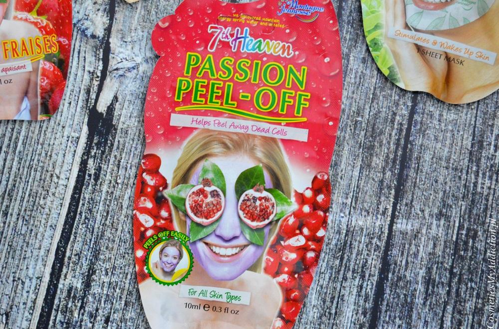 Maska oczyszczająca owocowa typu peel off (7th heaven Passion peel-off)