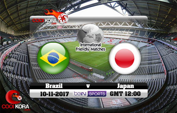 مشاهدة مباراة البرازيل واليابان اليوم 10-11-2017 مباراة ودية