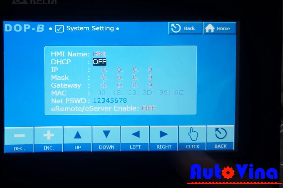 Hướng dẫn cài đặt cấu hình mạng Ethernet cho màn hình Delta DOP-B07E411