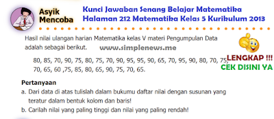 Kunci Jawaban Senang Belajar Matematika Halaman 212 Matematika Kelas 5 Kurikulum 2013 www.simplenews.me