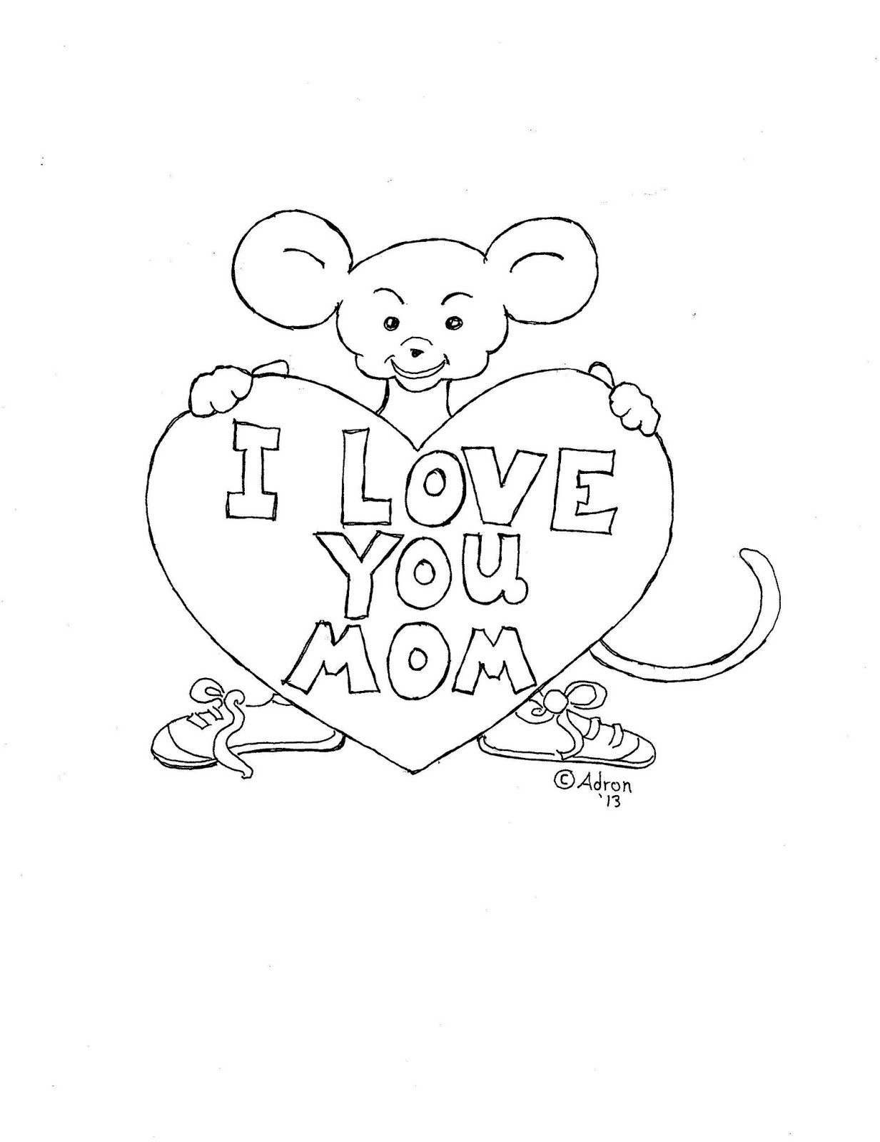 Coloring Pages For Kids By Mr Adron Mother Day Print