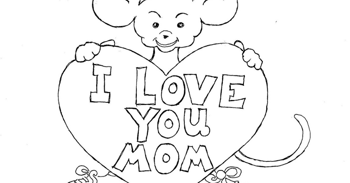 Coloring Pages for Kids by Mr. Adron: Mother' Day Print