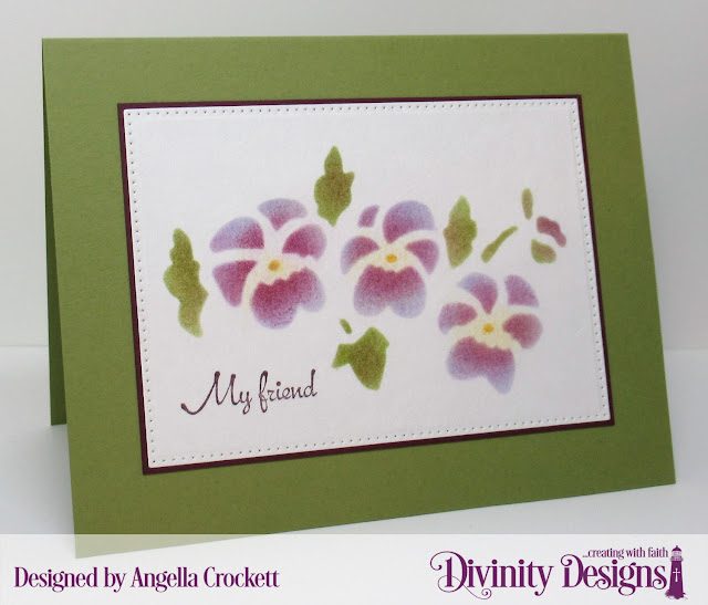 Divinity Designs My Friend and Pierced Rectangles Dies, Card Designer Angie Crockett